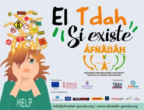 Encendido del Ayuntamiento de Gandía por el Día del TDAH